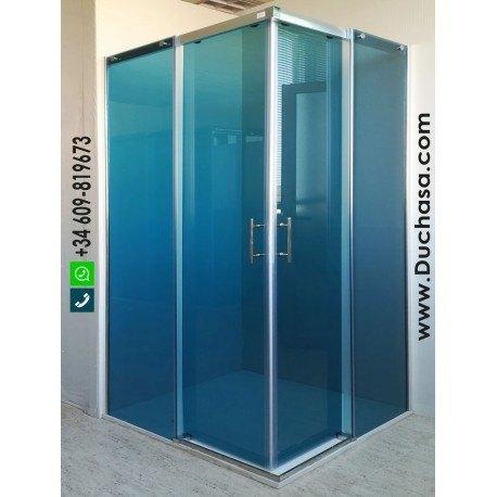 Silbo a medida vidrio azul aluminio plata brillo (consultar precios)