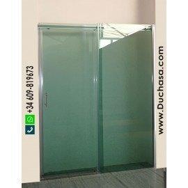 Umea a medida vidrio verde guía aluminio bicolor (consultar precios)