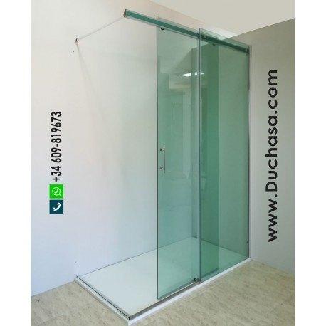 Umea open a medida vidrio verde guía aluminio bicolor (consultar precios)