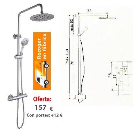Grifo Termostático con barra extensible