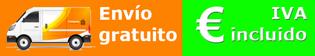 Envío gratuito, IVA incluido, Aluminio brillo
