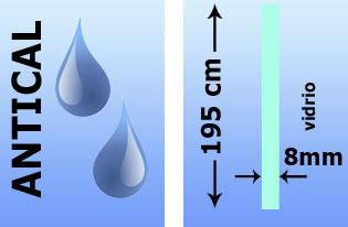 Tratamiento antical, vidrio de 8 mm