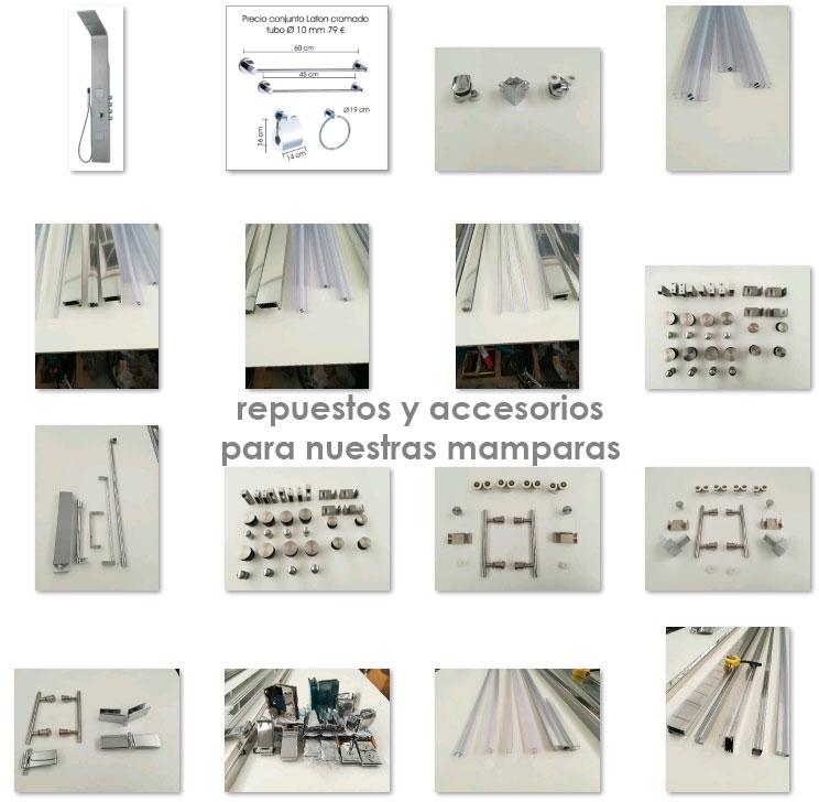 Repuestos y accesorios para mamparas de baño y ducha